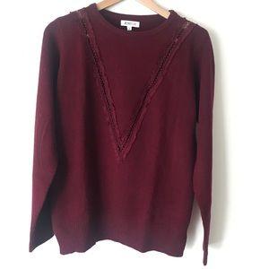 JustFab burgundy sweater